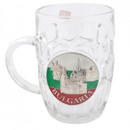 Сувенирна чаша - халба за бира - надпис България и забележителности от страна