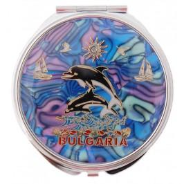 Сувенирно джобно огледало - делфини и платноходки, България