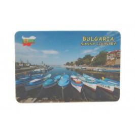 Сувенирна магнитна пластинка - лодки, България