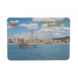 Сувенирна магнитна пластинка - ветроходно корабче, Слънчев бряг