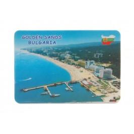 Сувенирна магнитна пластинка - плажове на Златни пясъци