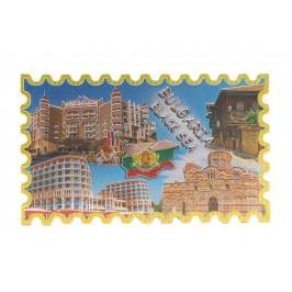 Сувенирна магнитна пластинка с лазерна графика - забележителности на Българското Черноморие