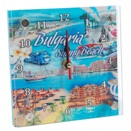 Сувенирен настолен часовник - забележителности в Слънчев бряг