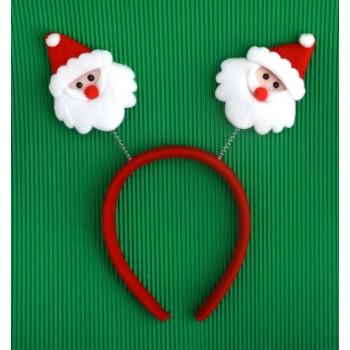 Коледна диадема с декоративни фигурки - Дядо Коледа
