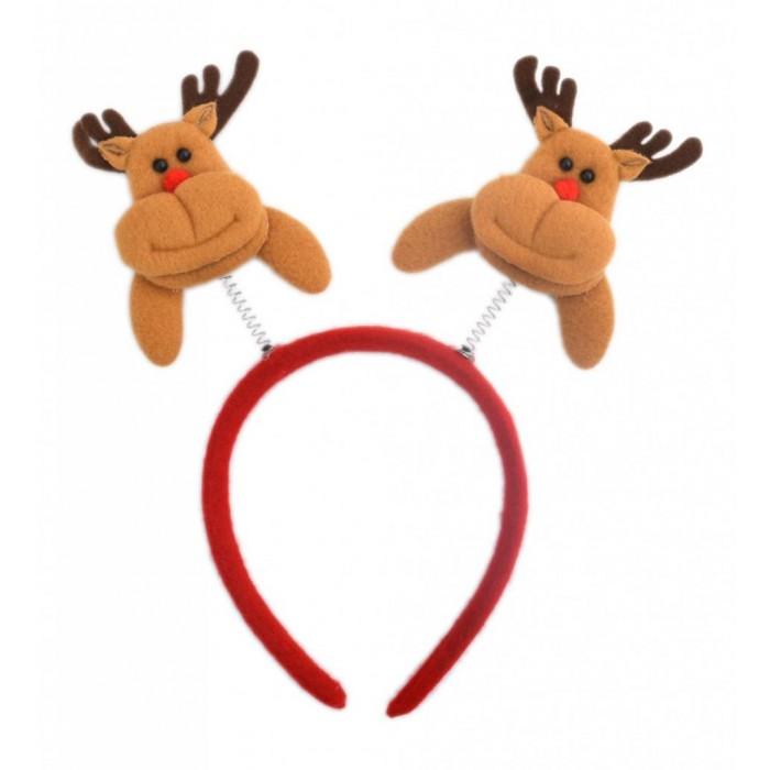 Коледна диадема с декоративни фигурки - еленчета