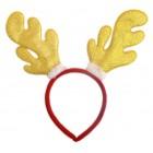 Коледна диадема - лъскави еленови рога