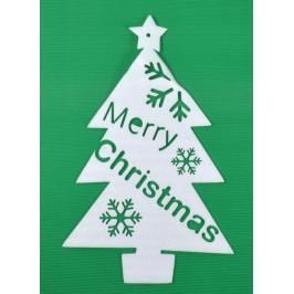 Коледна декорация за прозорец - елха с надпис Merry Christmas
