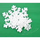 Комплект от 5бр коледна декорация - различни по големина снежинки
