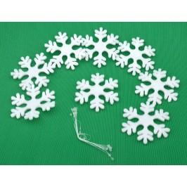 Комплект от 8бр коледна декорация - снежинки
