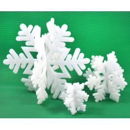 Комплект от 3бр коледна декорация - снежинки