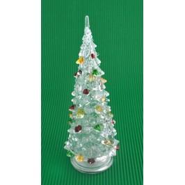 Декоративна елхичка с цветни връхчета, светеща в различни цветове