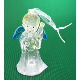 Декоративна фигурка - ангелче, светещо в различни цветове
