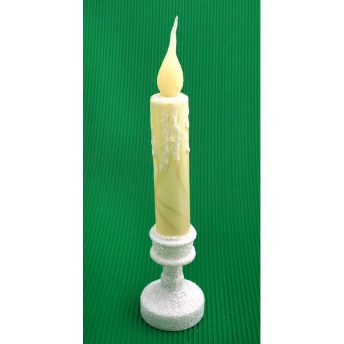 Декоративна фигурка - свещ, светеща с трептене