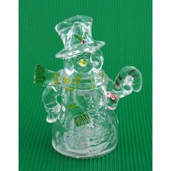 Декоративна фигурка - снежен човек, светещ в различни цветове