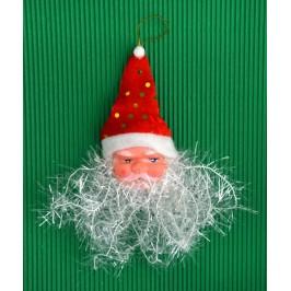 Коледна украса за елха - лице на Дядо Коледа