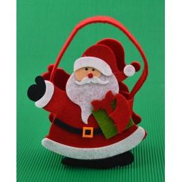 Коледна торбичка във формата на Дядо Коледа с подарък