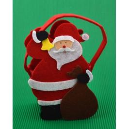 Коледна торбичка във формата на Дядо Коледа с чувал