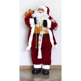 Декоративна фигура - Дядо Коледа, носещ списък и торба с подаръци