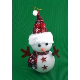 Коледна фигурка - снежно човече, светещо в различни цветове