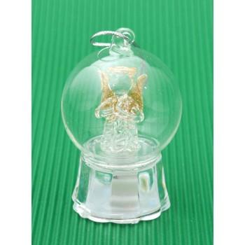 Декоративна фигурка - ангелче в купол, светещо в различни цветове