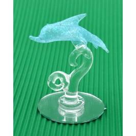 Декоративна фигурка - делфин върху вълна