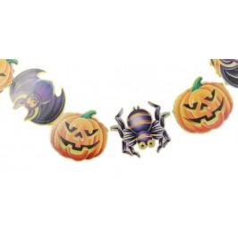 Парти гирлянд за декорация - свързани тематични фигурки за Хелоуин