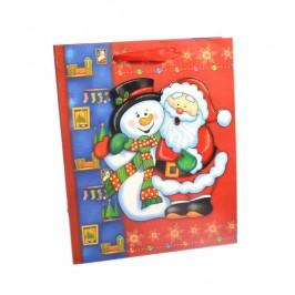Коледна подаръчна торбичка с 3D елемент от изображението