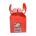 Сгъваема подаръчна торбичка с 3D елемент - Дядо Коледа