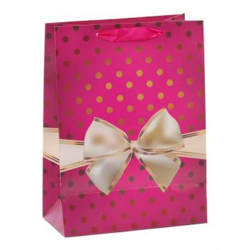 Цветна подаръчна торбичка - панделка, изработена от картон