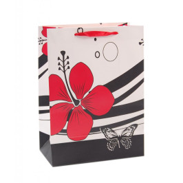 Цветна подаръчна торбичка - цвете и пеперуди