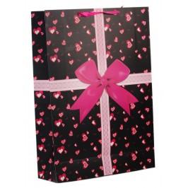 Цветна подаръчна торбичка, изработена от картон