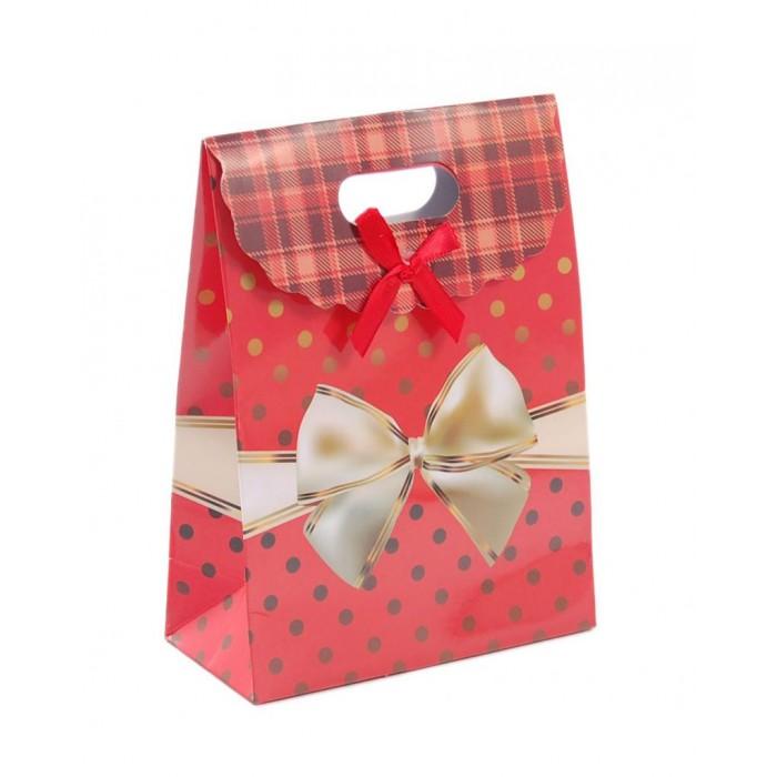Цветна подаръчна торбичка с капаче - панделка