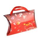 Сгъваема подаръчна торбичка във формата на възглавница с изобразени коледни мотиви