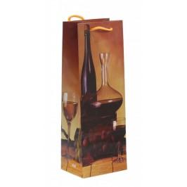 Стилна подаръчна торбичка - вино
