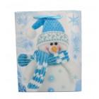 Подаръчна торбичка с изобразен снежен човек