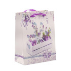 Подаръчна торбичка с брокат - лавандула