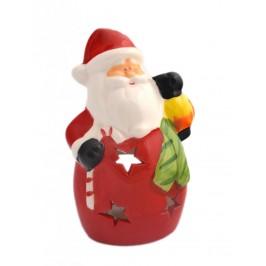 Декоративен свещник във формата на Дядо Коледа с фенер