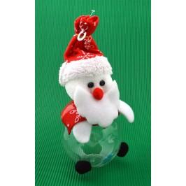 Декоративна касичка с фигурка, светеща в различни цветове - Дядо Коледа
