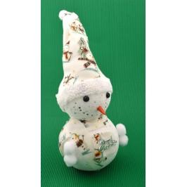 Декоративна фигурка, светеща в различни цветове - снежен човек