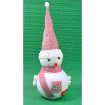 Декоративна фигурка - снежен човек с шапка