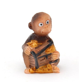 Сувенирна фигурка - маймунка с жълтици