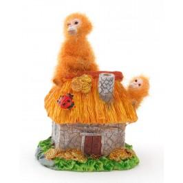Сувенирна фигурка - маймунки върху къща