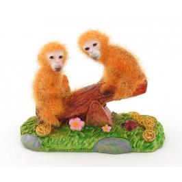 Сувенирна фигурка - маймунки на дървена люлка