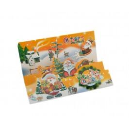 Прегъваща коледна картичка, декорирана с брокат