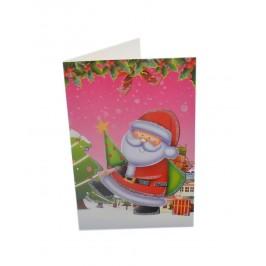 Коледна картичка, декорирана с брокат