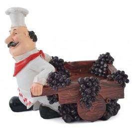 Поставка за вино - готвач с каручка