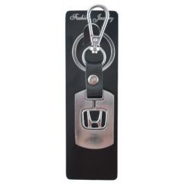 Стилен автомобилен ключодържател със сребриста пластина - Honda