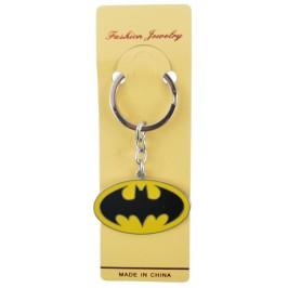 Ключодържател с цветна метална пластинка - логото на Batman