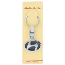 Автомобилен ключодържател - черна емблема на Hyundai