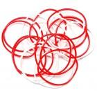 Мартеница гривна от PVC материал - червено и бяло